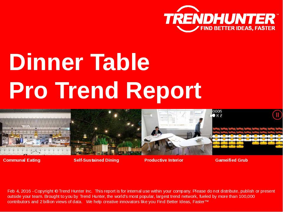 Dinner Table Trend Report Research