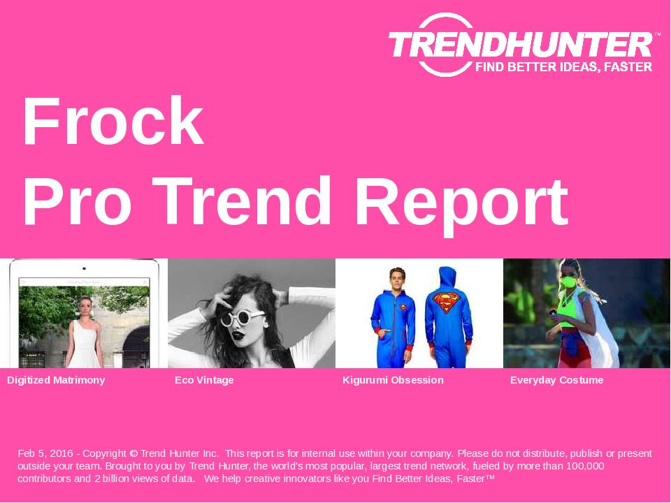 Frock Trend Report Research