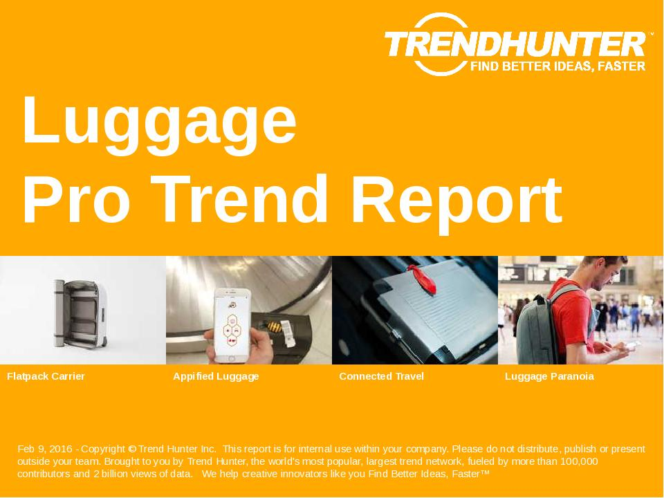 Luggage Trend Report Research