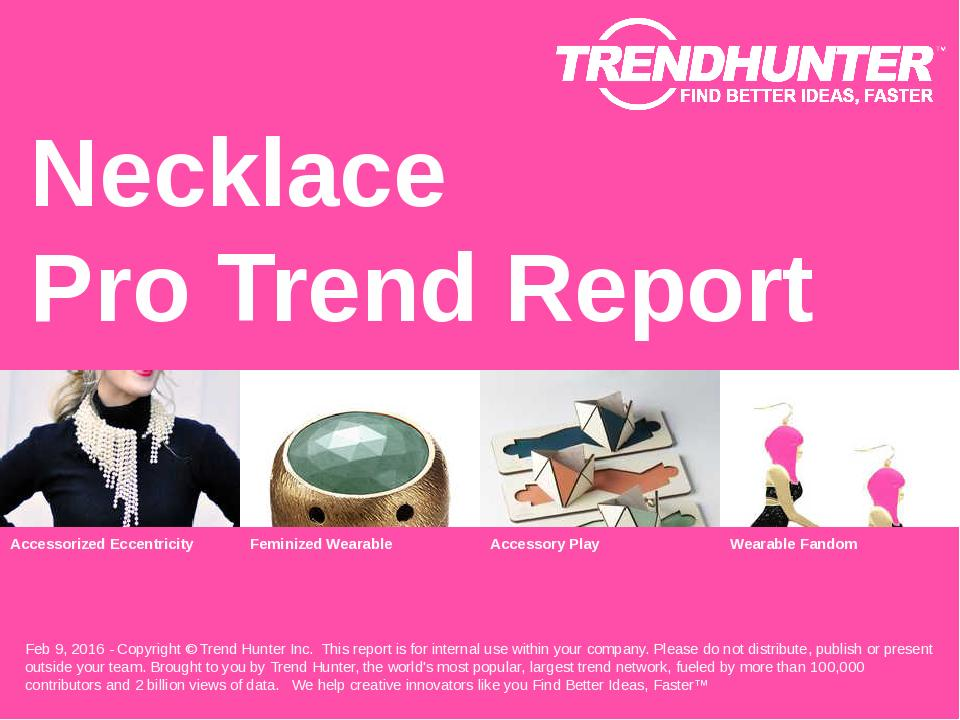 Necklace Trend Report Research