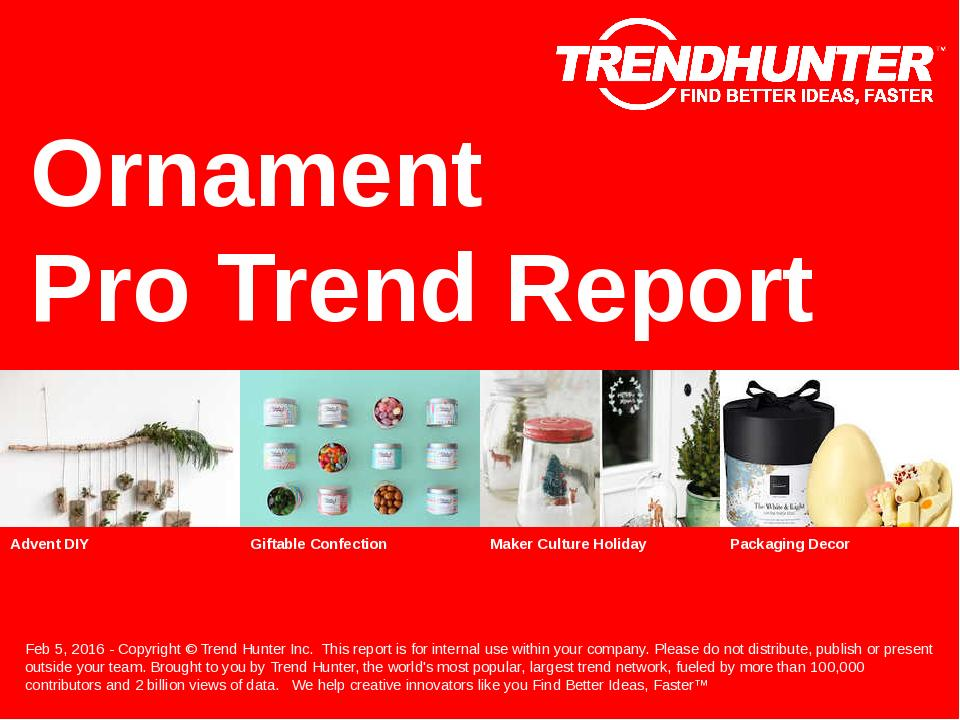 Ornament Trend Report Research