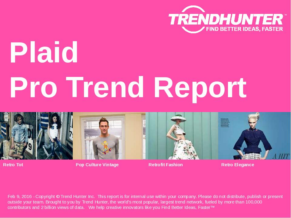 Plaid Trend Report Research