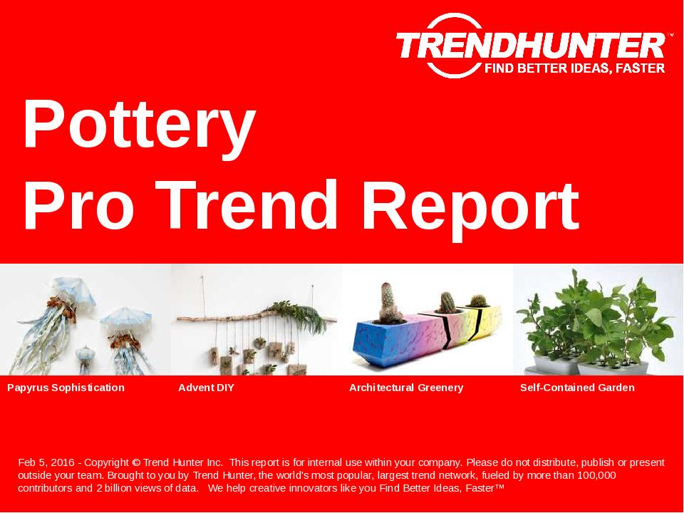 Pottery Trend Report Research