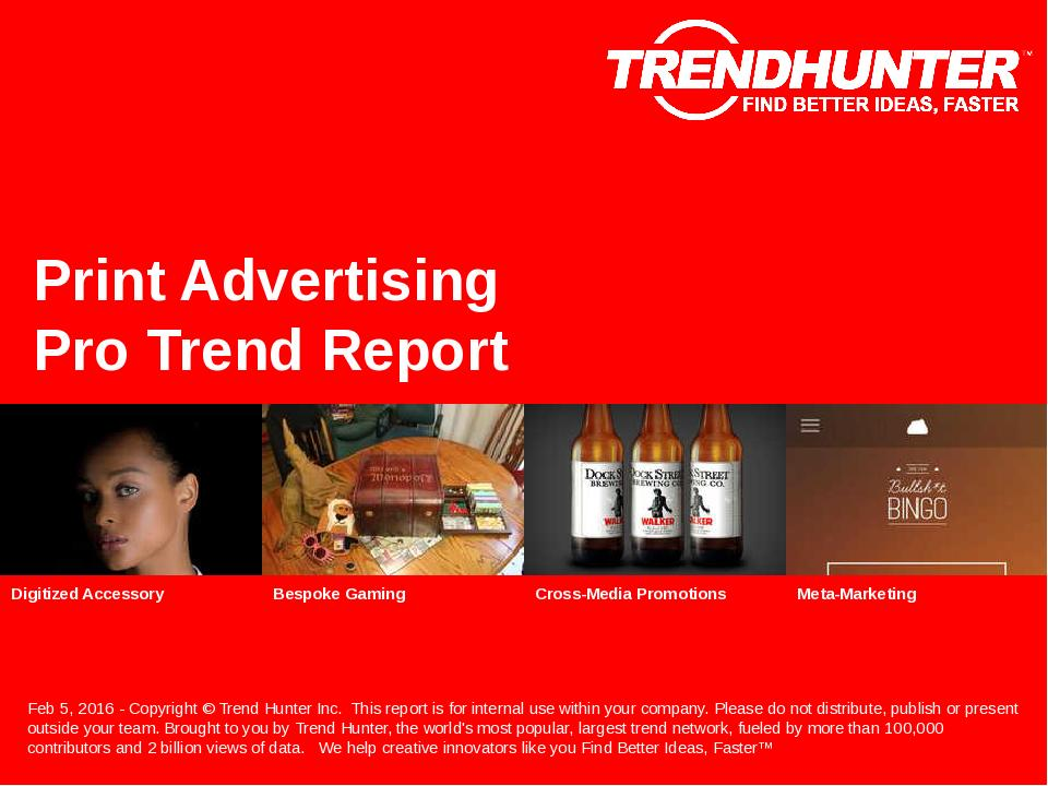 Print Advertising Trend Report Research