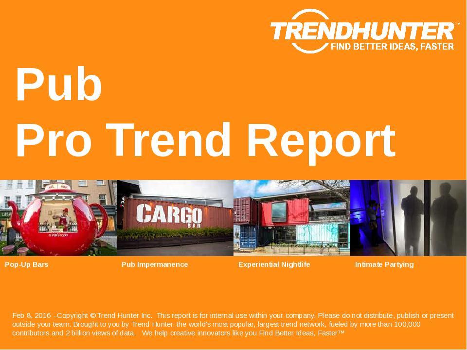 Pub Trend Report Research