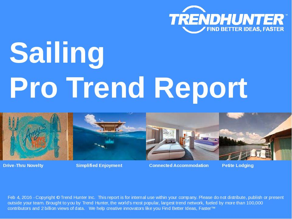 Sailing Trend Report Research