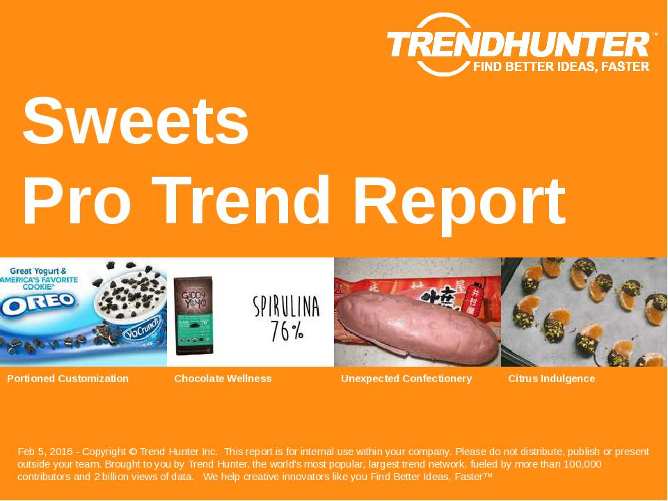 Sweets Trend Report Research