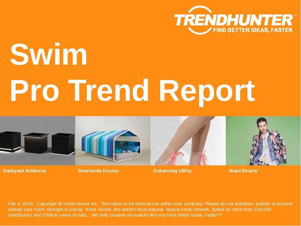 Swim Trend Report Research