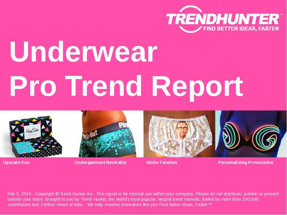 Underwear Trend Report Research