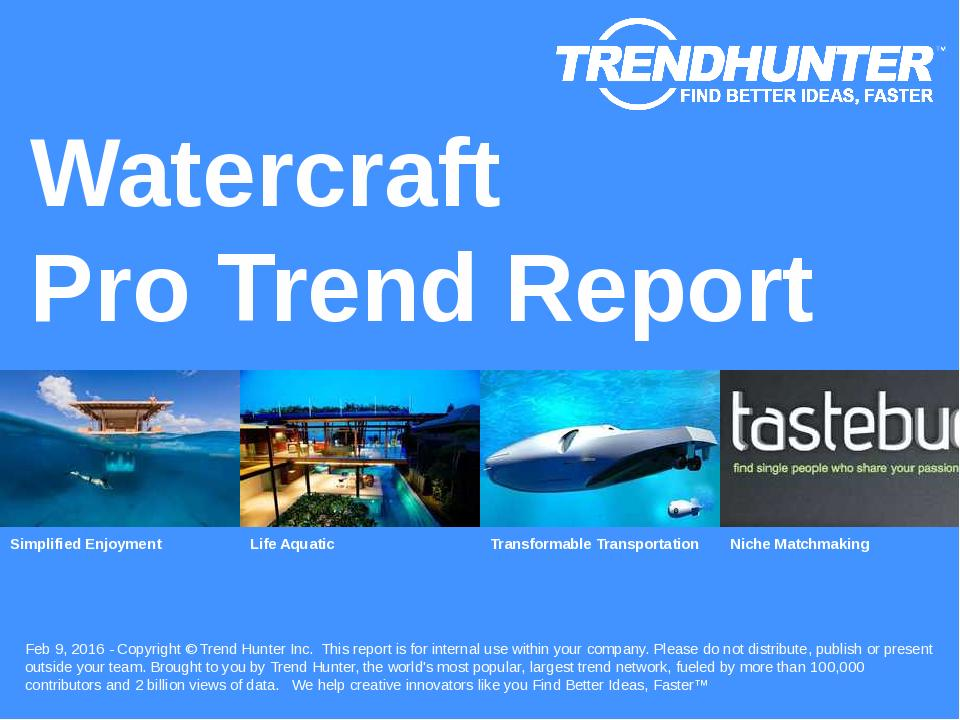 Watercraft Trend Report Research