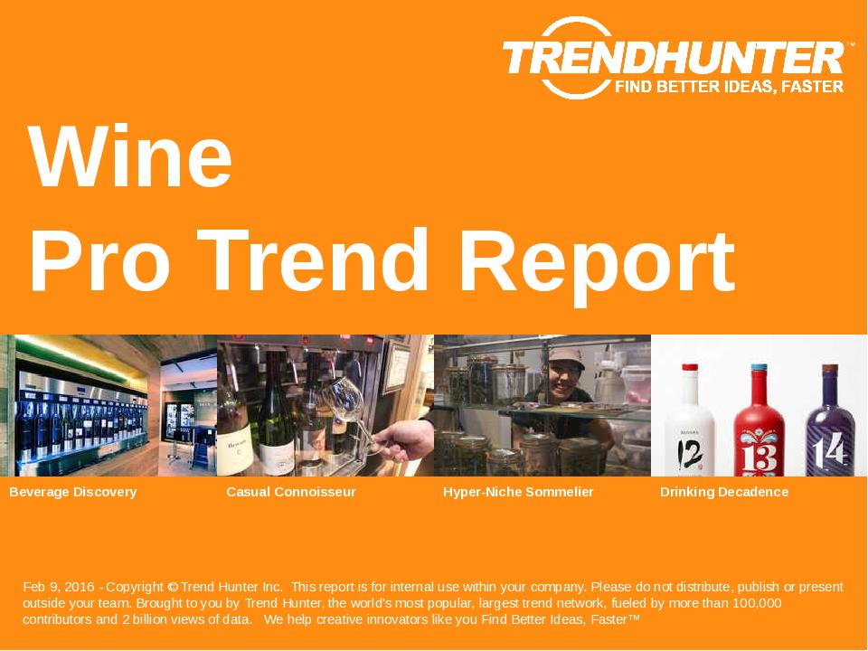 Wine Trend Report Research