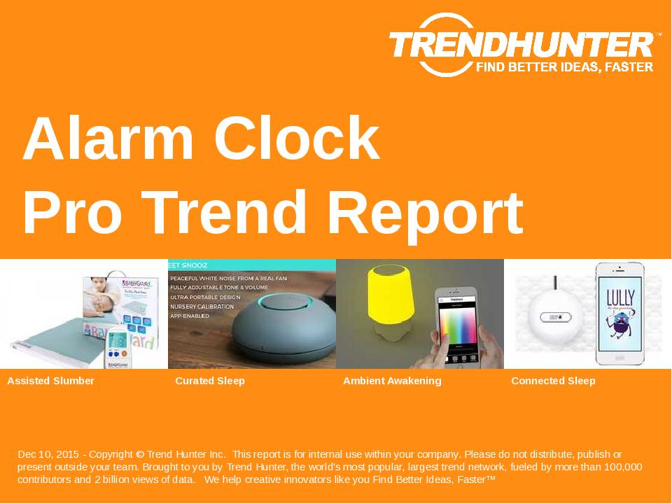 Alarm Clock Trend Report Research
