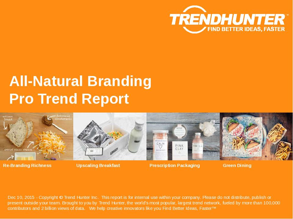 All-Natural Branding Trend Report Research