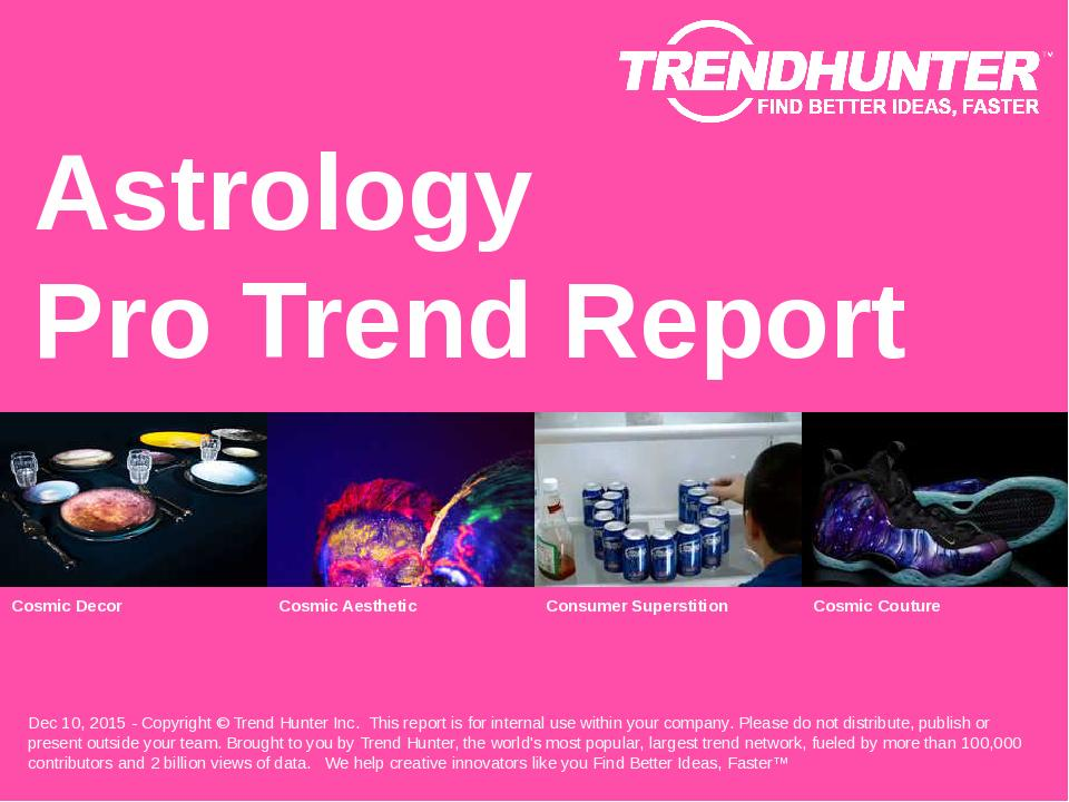 Astrology Trend Report Research