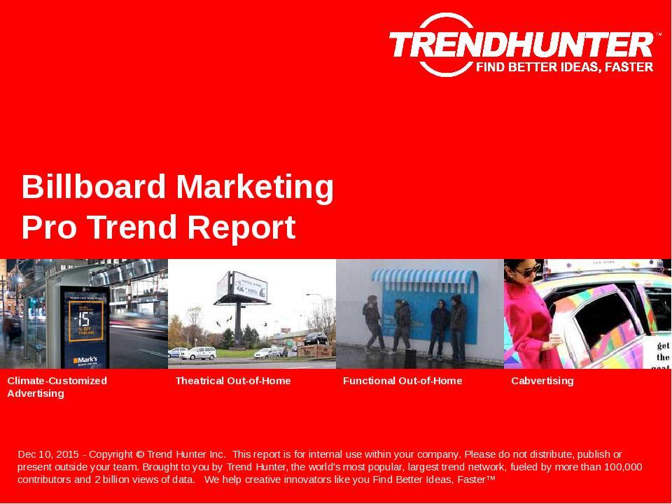 Billboard Marketing Trend Report Research