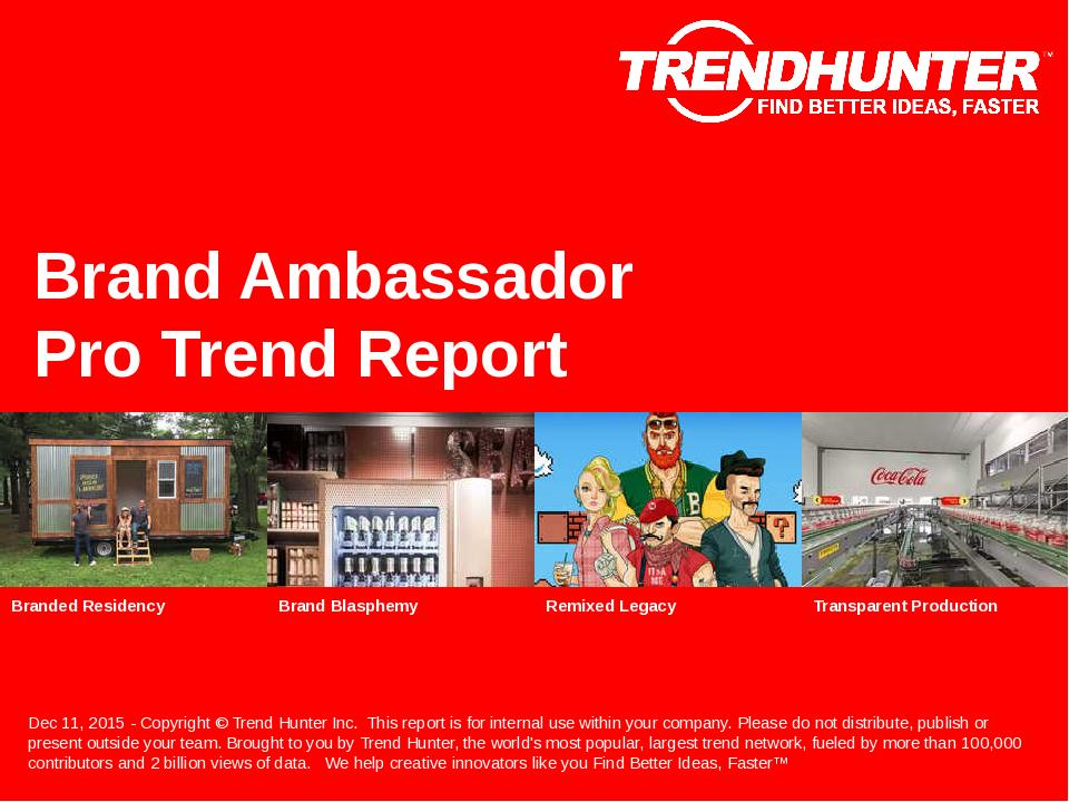 Brand Ambassador Trend Report Research