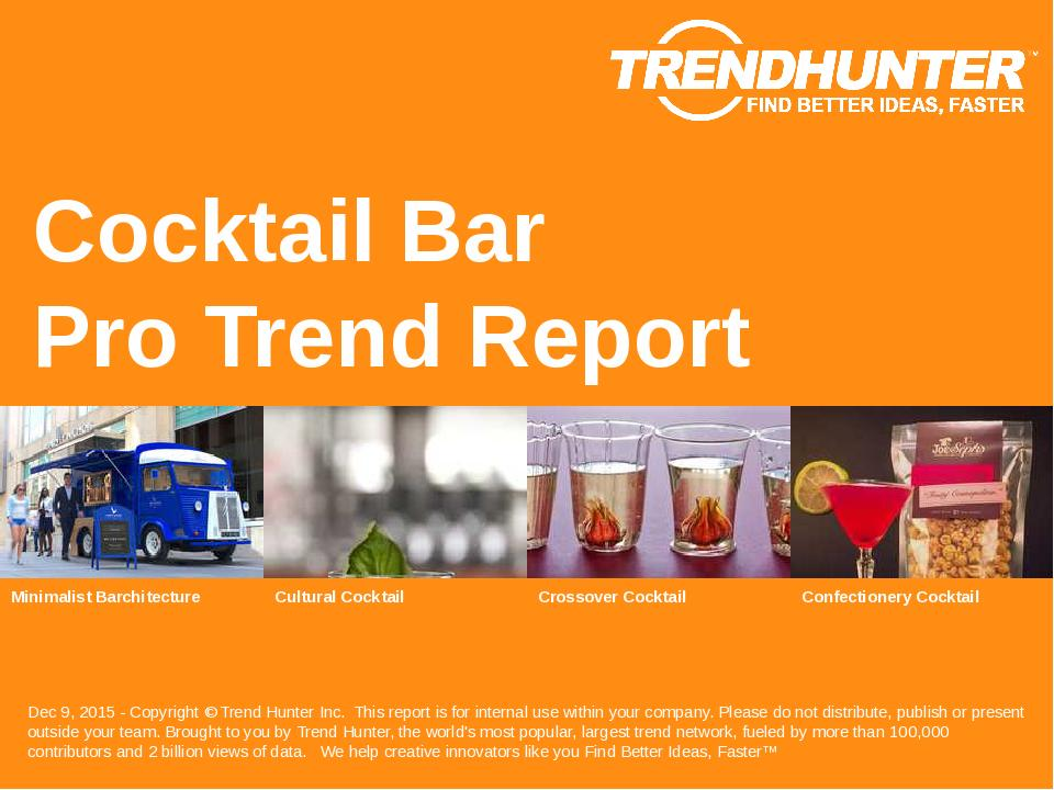 Cocktail Bar Trend Report Research