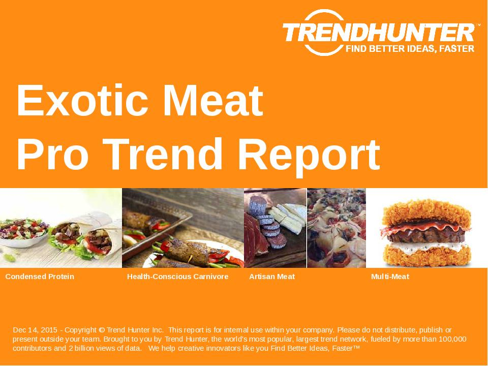 Exotic Meat Trend Report Research