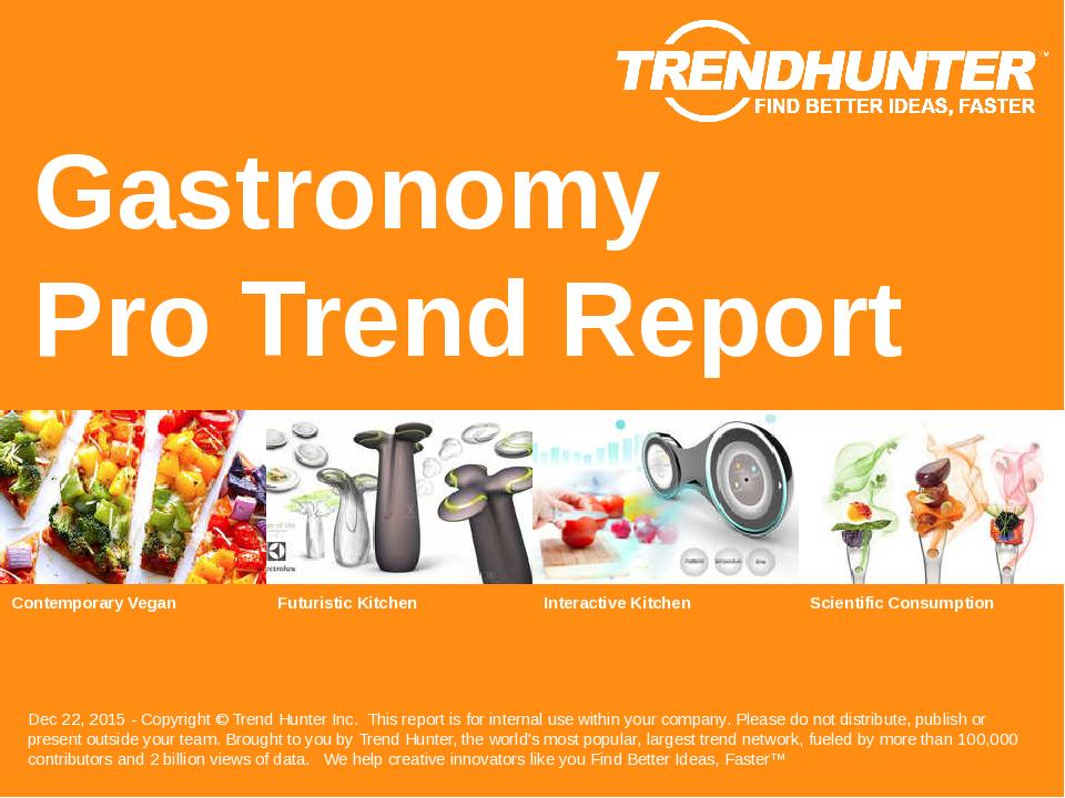 Gastronomy Trend Report Research