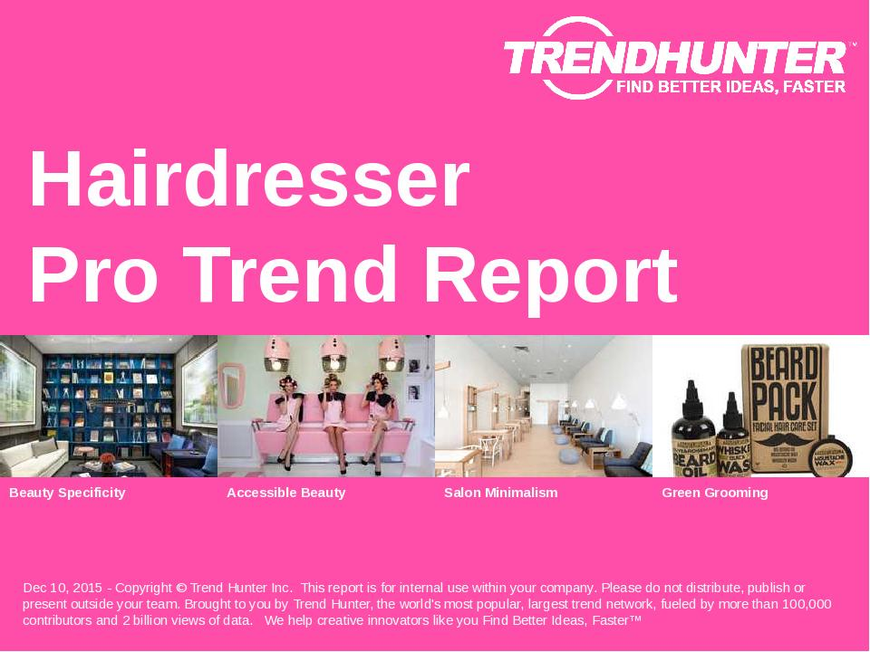 Hairdresser Trend Report Research