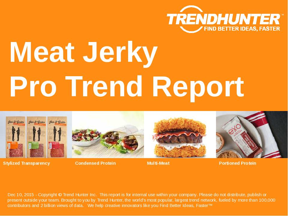 Meat Jerky Trend Report Research