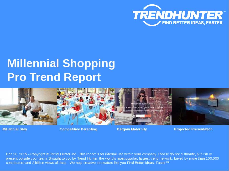 Millennial Shopping Trend Report Research