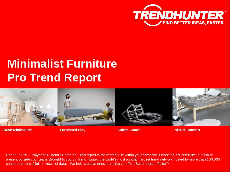 Minimalist Furniture Trend Report Research