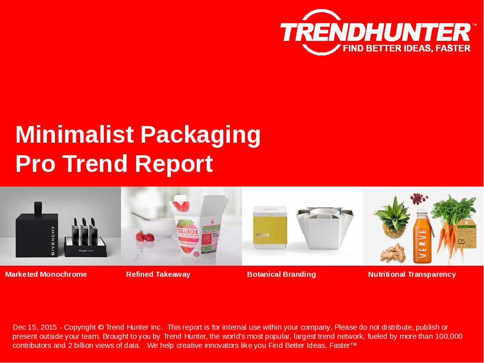 Minimalist Packaging Trend Report Research