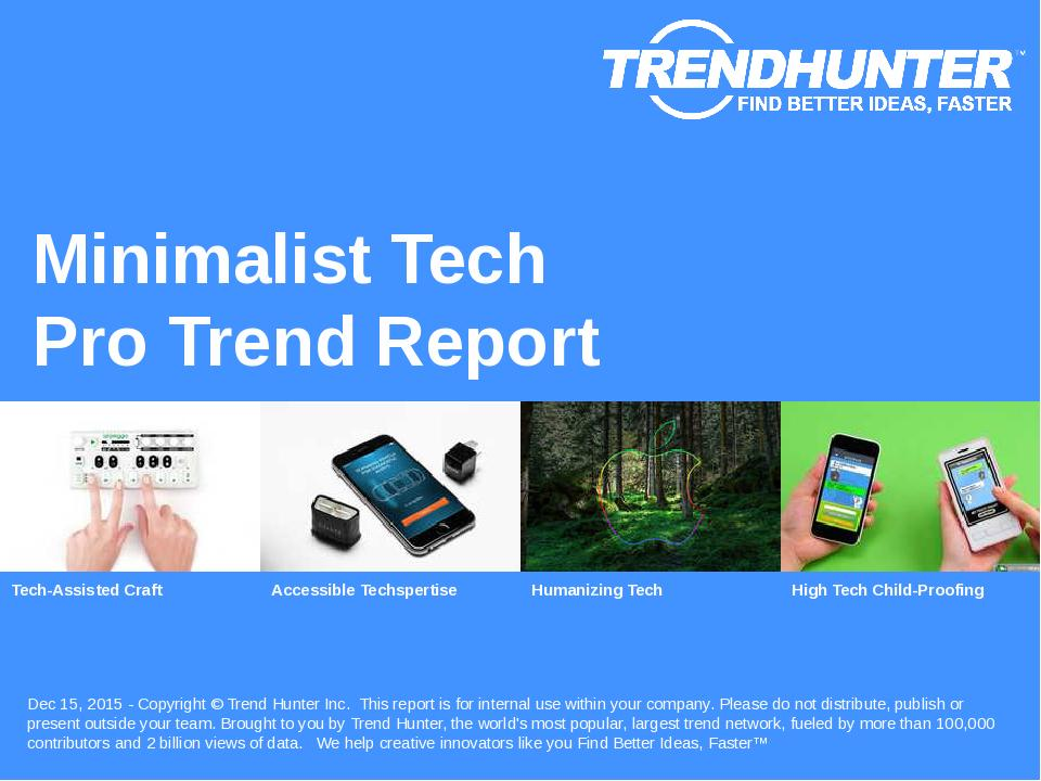 Minimalist Tech Trend Report Research