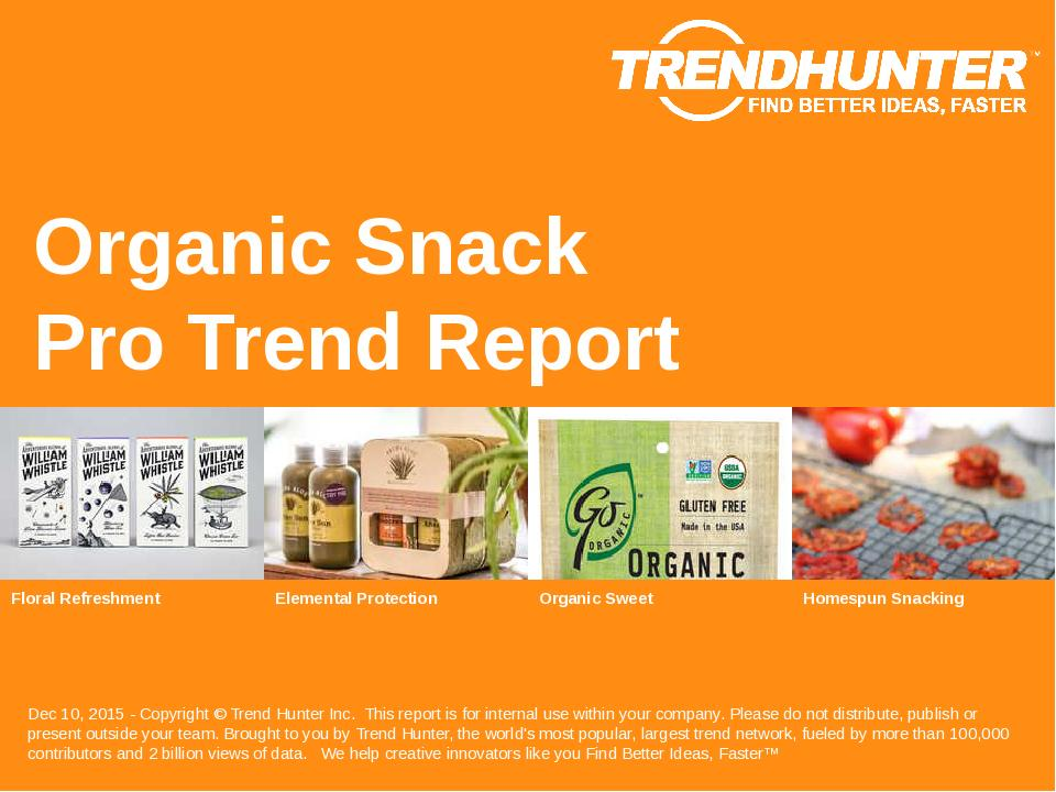 Organic Snack Trend Report Research