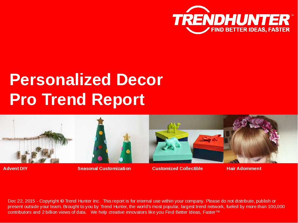 Personalized Decor Trend Report Research