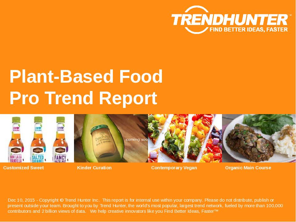 Plant-Based Food Trend Report Research