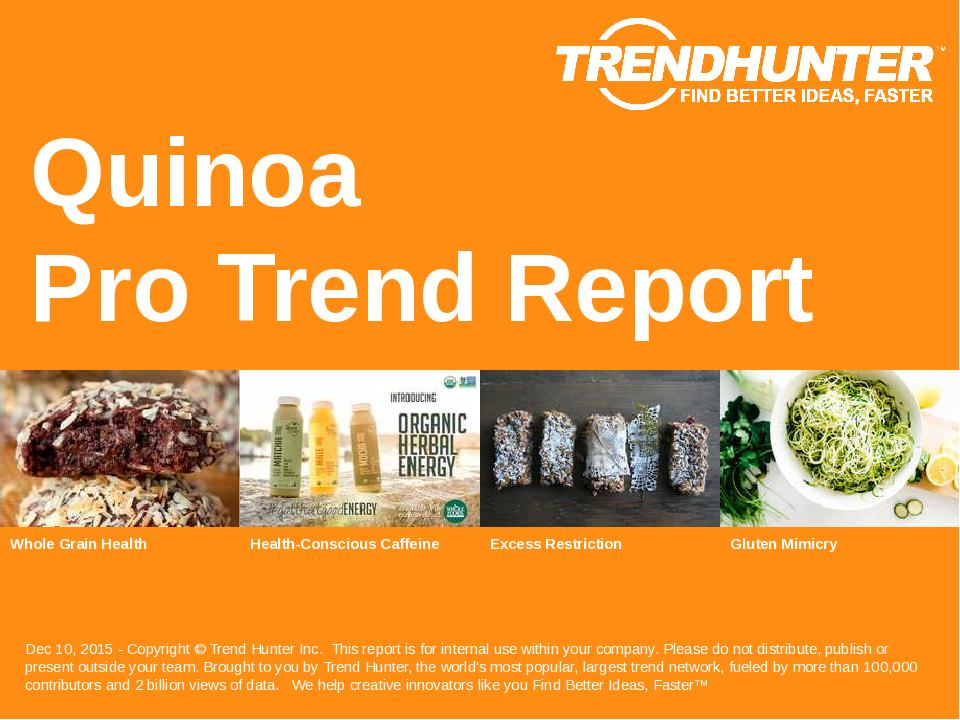 Quinoa Trend Report Research