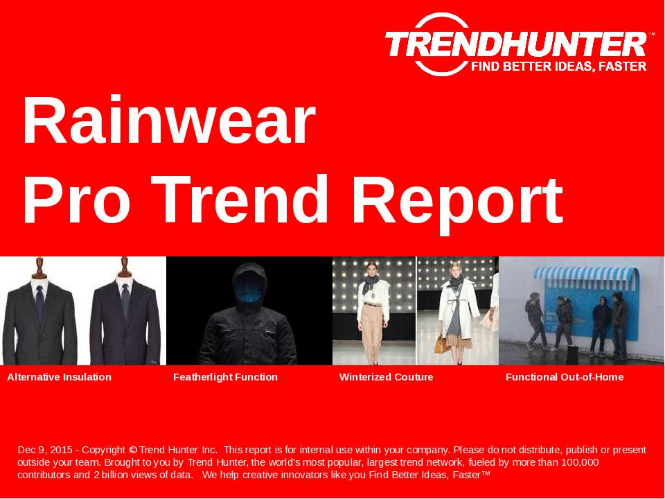 Rainwear Trend Report Research