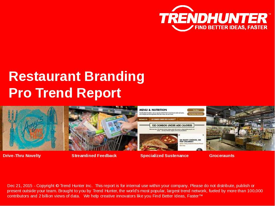 Restaurant Branding Trend Report Research