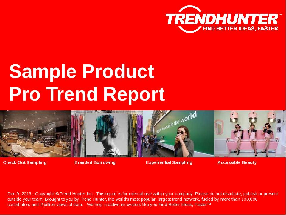 Sample Product Trend Report Research