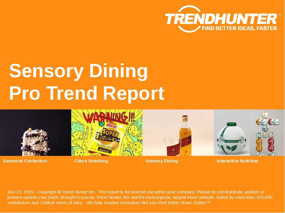 Sensory Dining Trend Report Research