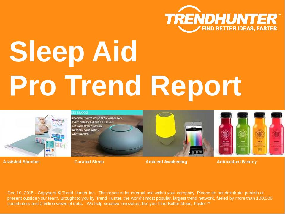 Sleep Aid Trend Report Research