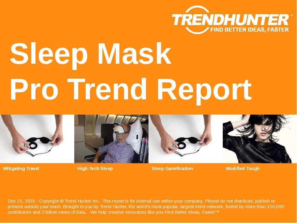 Sleep Mask Trend Report Research