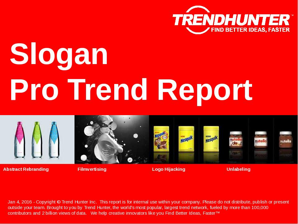 Slogan Trend Report Research