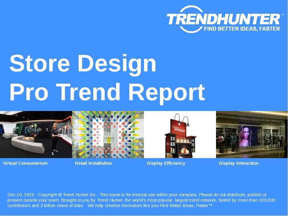 Store Design Trend Report Research