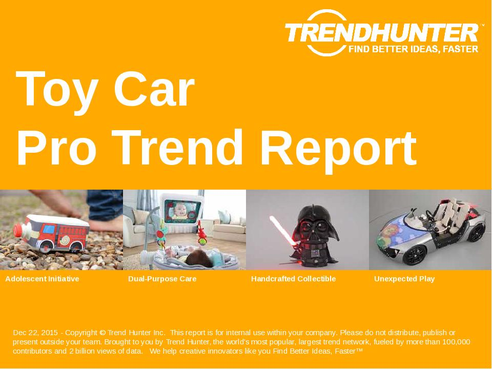 Toy Car Trend Report Research