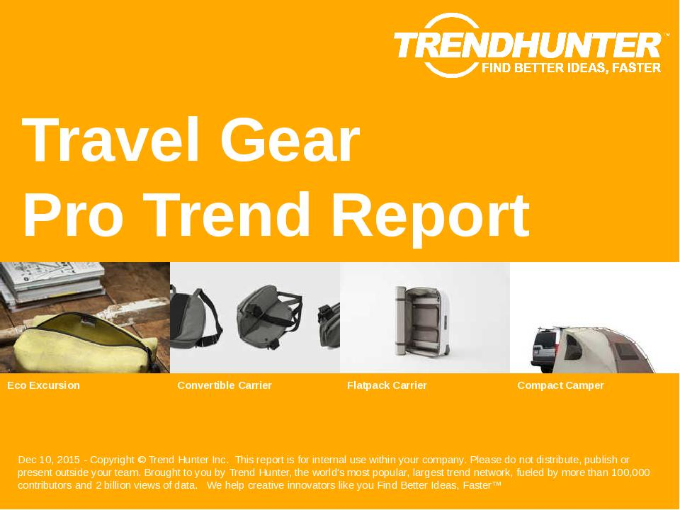 Travel Gear Trend Report Research