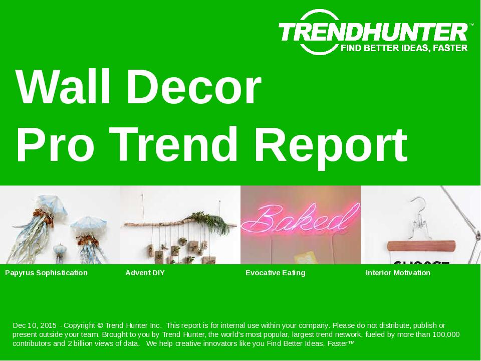 Wall Decor Trend Report Research