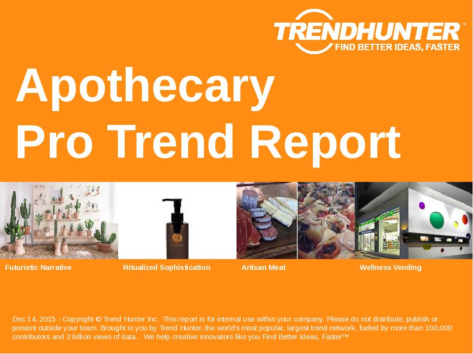 Apothecary Trend Report Research