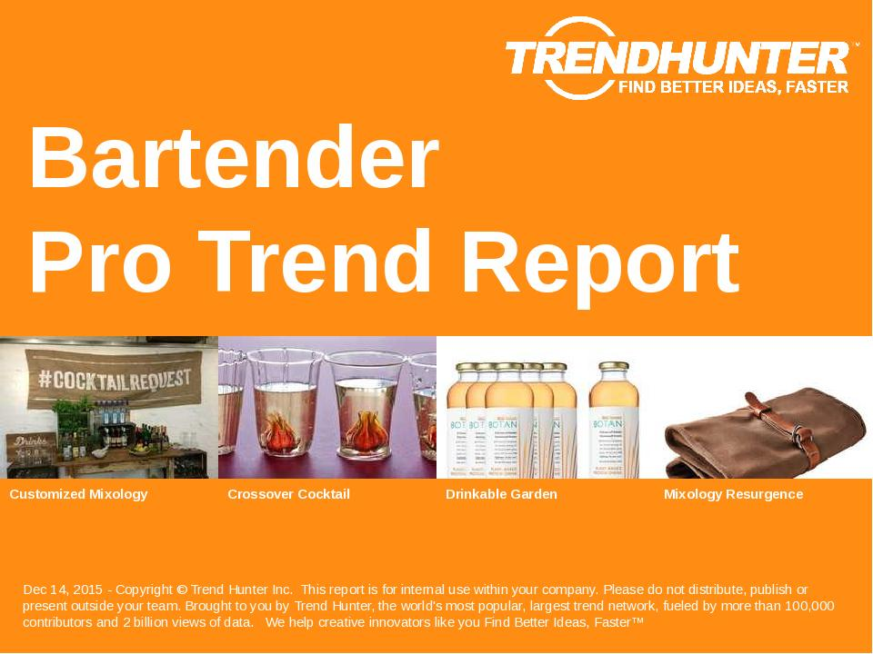 Bartender Trend Report Research