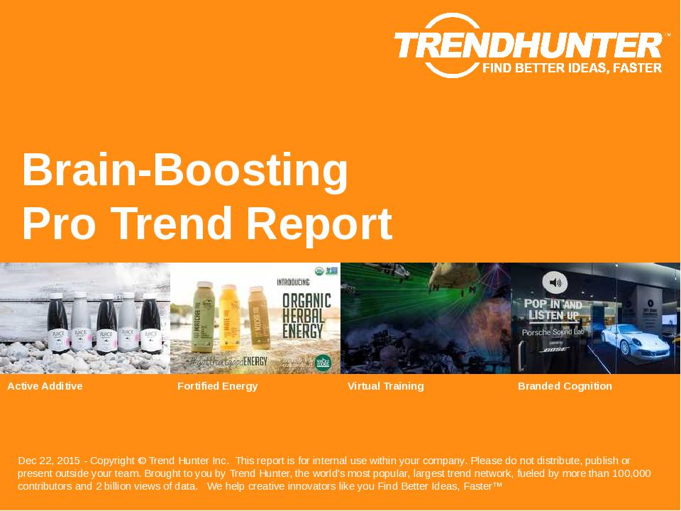 Brain-Boosting Trend Report Research