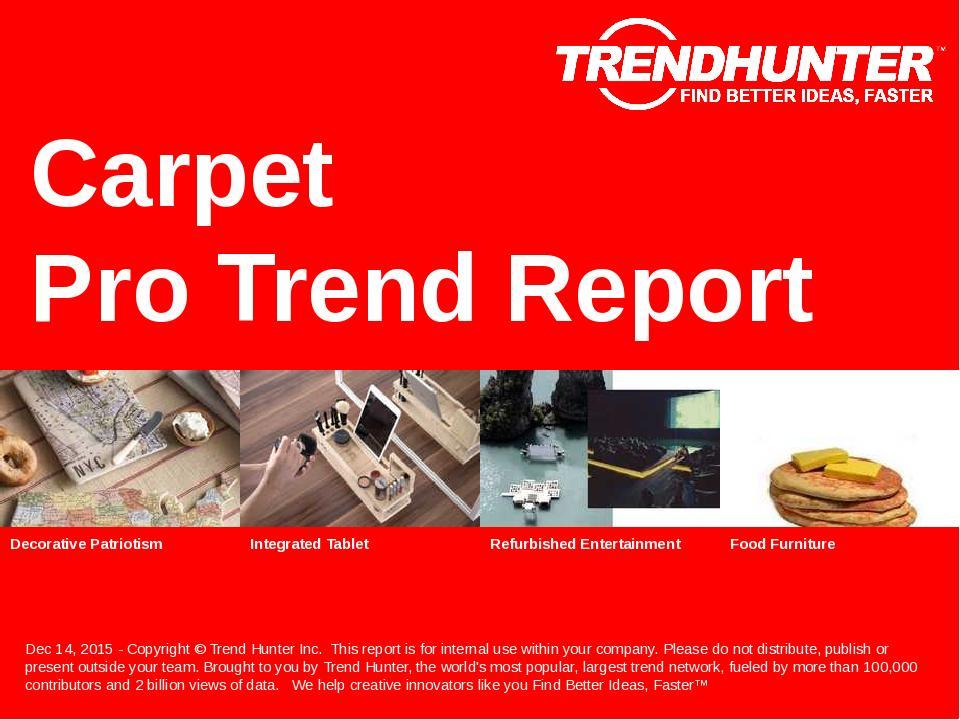 Carpet Trend Report Research
