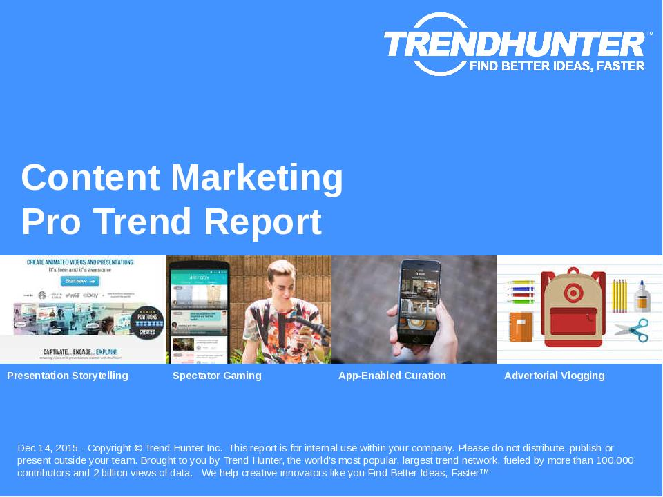Content Marketing Trend Report Research