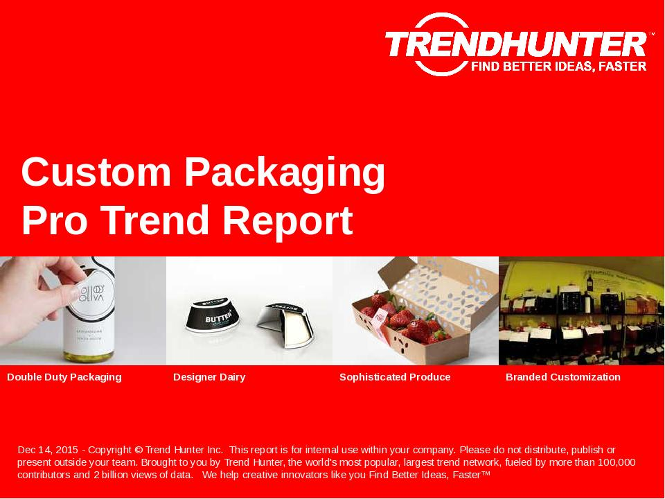 Custom Packaging Trend Report Research